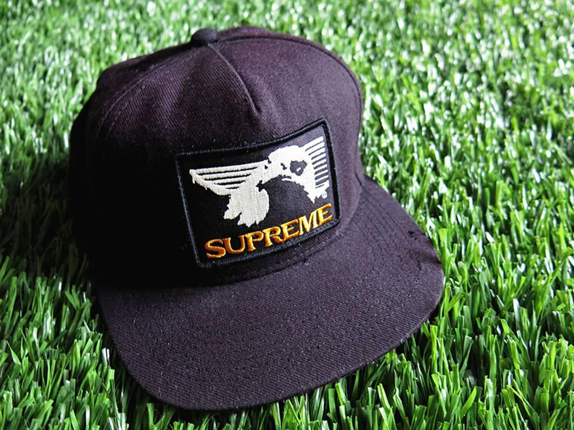 de41d693 ... top quality supreme rare supreme eagle patch 5 panel f w 2009 snapback  hat camp cap bape