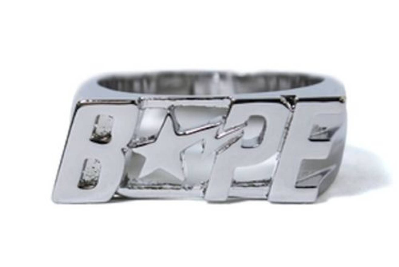 Bape A Bathing Ape Bape Sta Ring Silver M Size one size - Jewelry ...