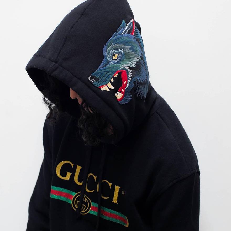 e076101dbd0 W2C  This Gucci Hoodie with wolf embroidery   FashionReps