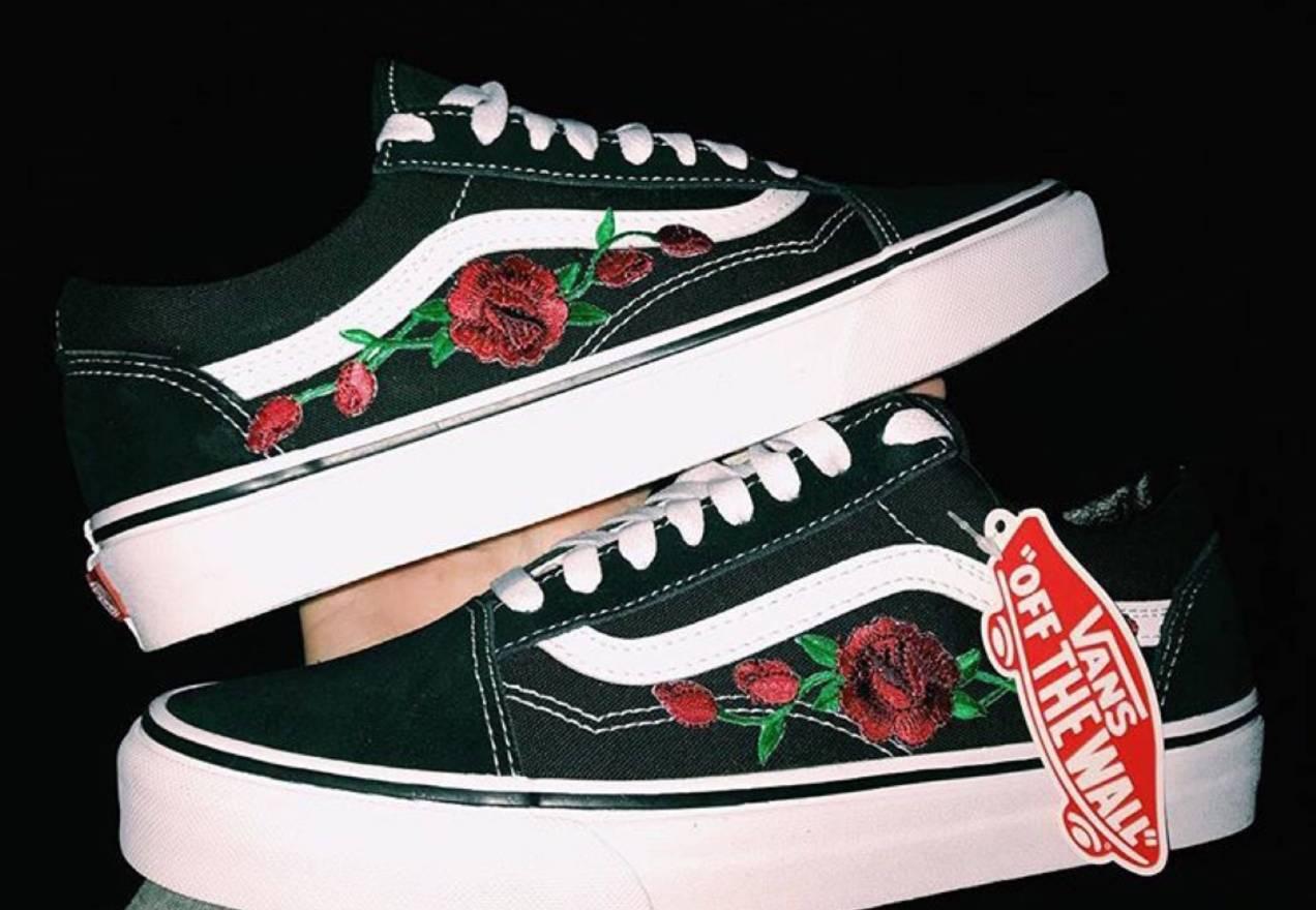 Vans Roses Gucci Custom Sz95 Size US 95 EU 42 43