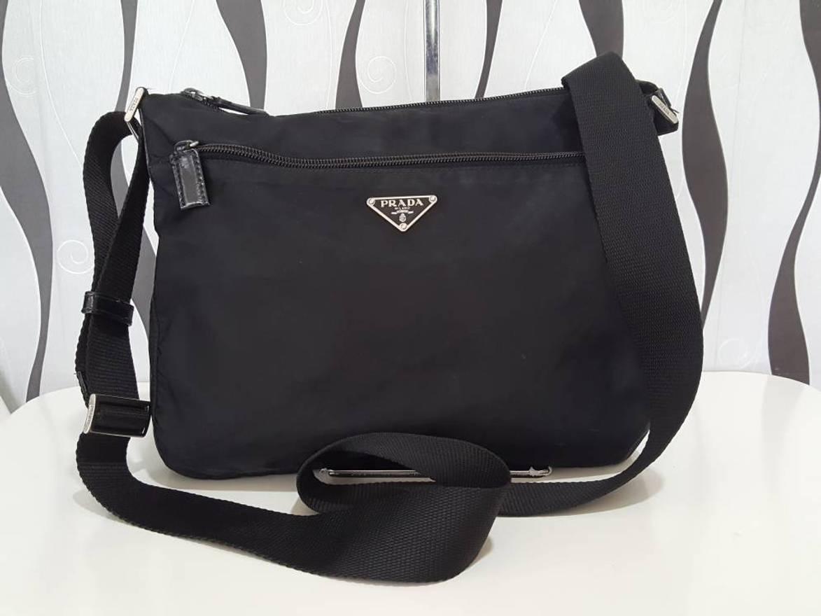 68fe18dbf340 ... canada prada rare authentic prada nylon black sling crossbody bag prada  bag prada sport a6d42 38d7d