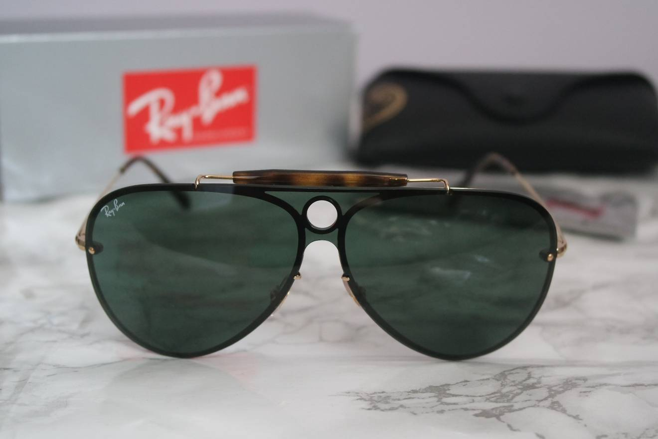 d693601d02 low cost rayban new ray ban 3561 blaze shooter rimless aviator shield size  one size 9a3cf