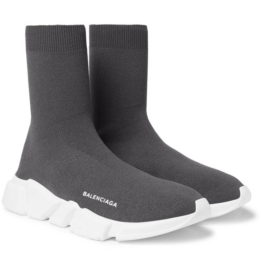Balenciaga Speed Sock Stretch-Knit Sneakers