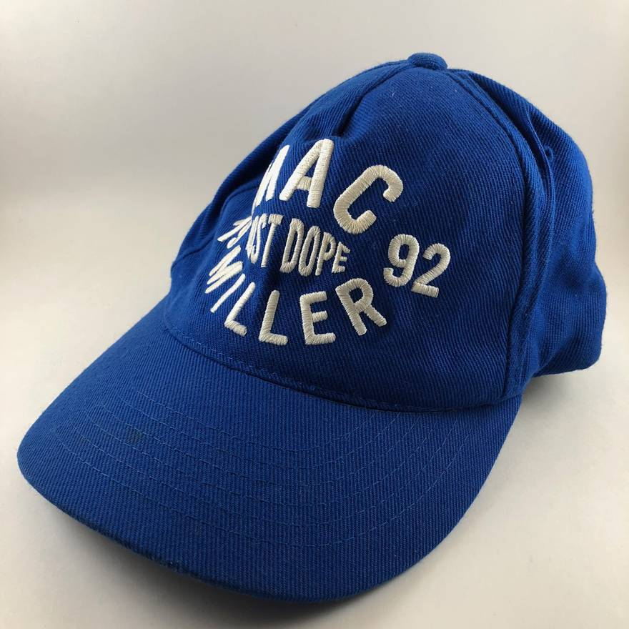 newest e39ab 10018 ... where can i buy mac miller official mac miller most dope 1992 thumbs up  blue snapback