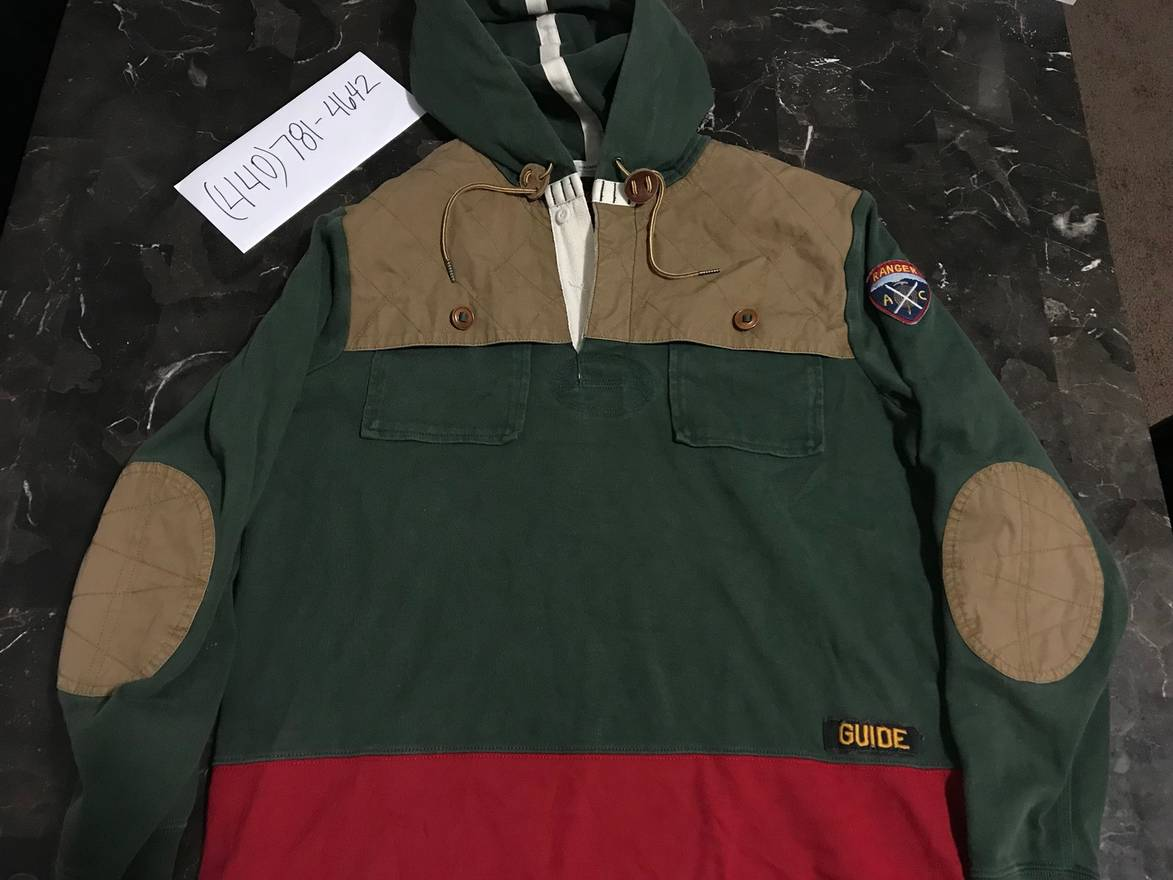 cf570a2f ... where to buy ralph lauren rugby pullover trail guide poncho hooded  shirt size us m eu