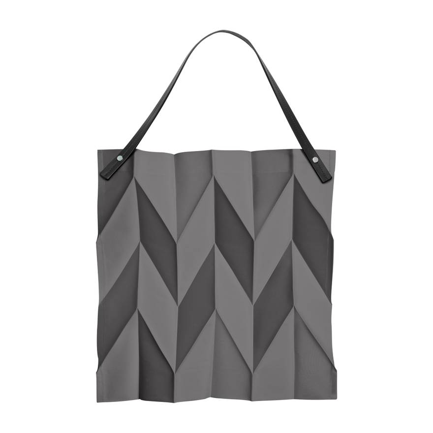 Issey Miyake NIB Iittala X Origami Pleated Tote Bag Dark Grey Comme Des Garcons
