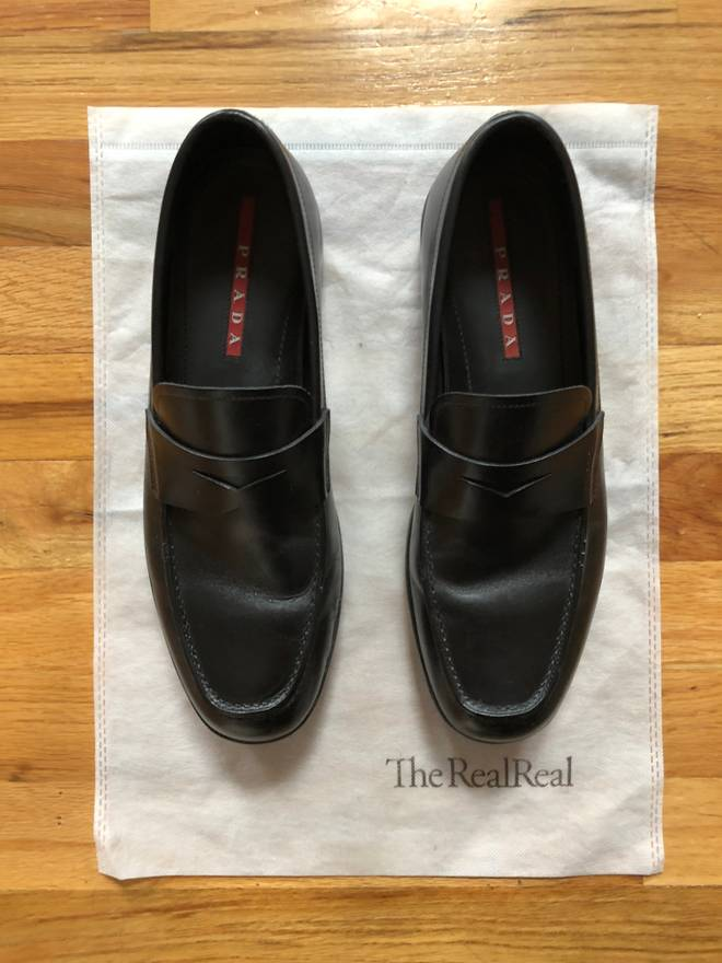 3850fec21de discount brand new mens prada loafers d7689 b0358  coupon code for prada  prada sport penny loafer size us 8.5 eu 41 42 786e1 5c793