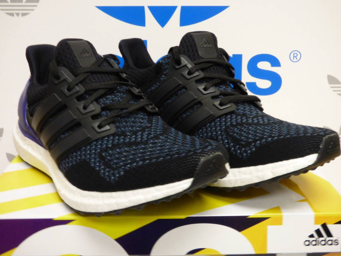 ... real adidas ultra boost 1.0 og core black purple b27171 size us 8.5 eu  1c5e2 cd6fc f40d012e7