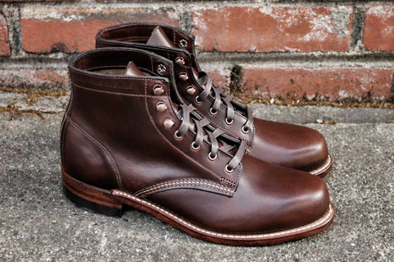 Wolverine 1000 Mile Bottines à lacets noir