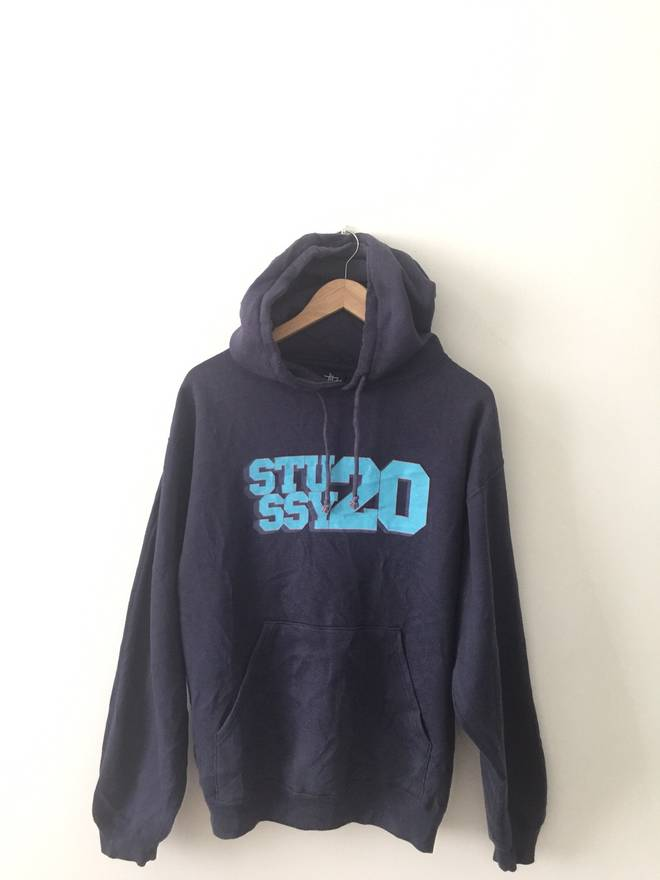 STUSSY FULLPRINT hoodies jacket original rare hip hop rap casual big logo Large size sweater