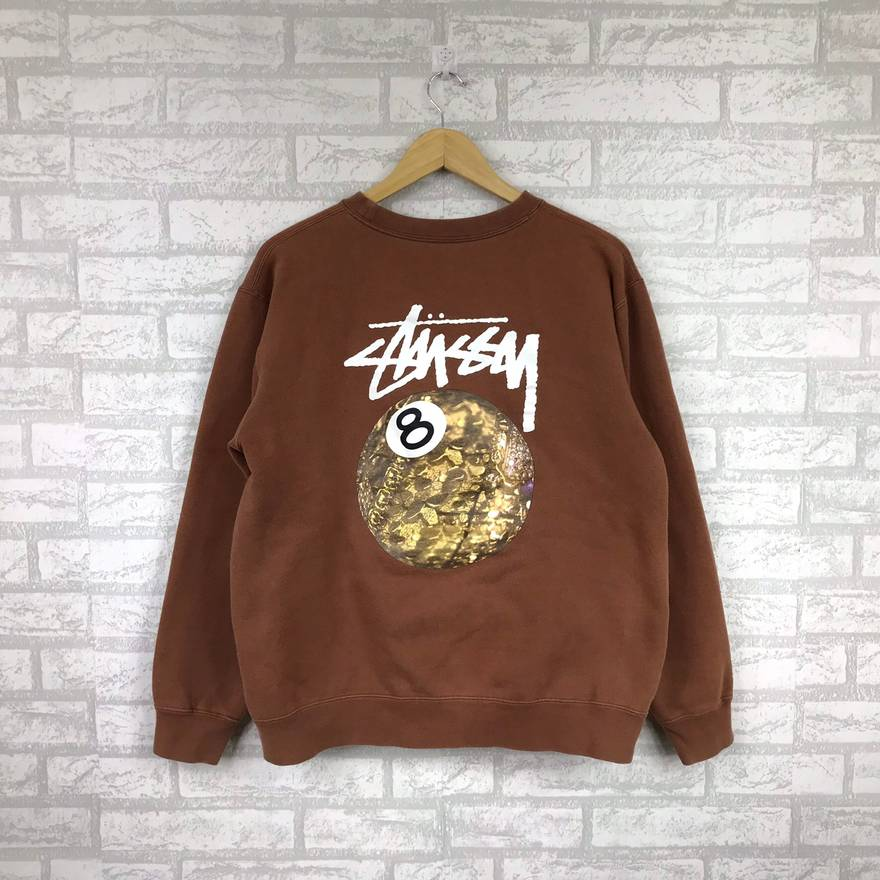 Stussy Sweatshirt Big Logo Spell Out Large