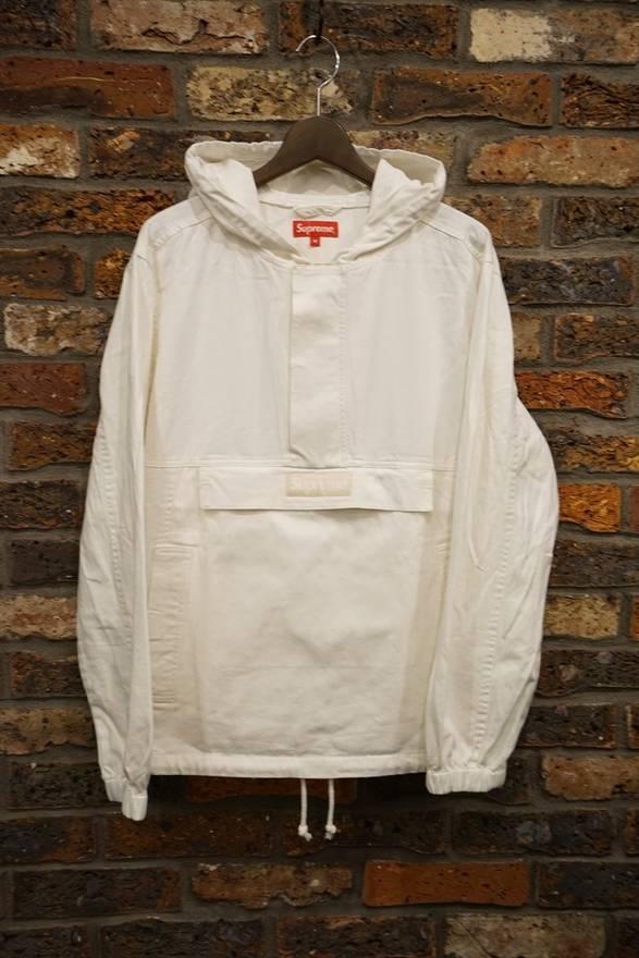 Supreme Contrast Stitch Twill Pullover Anorak (White) Size l ...