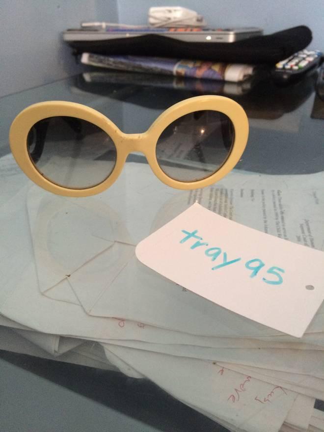 14c07c61e93d store prada prada baroque 55mm round sunglasses kurt cobain style size one  size 211ca 2dff1