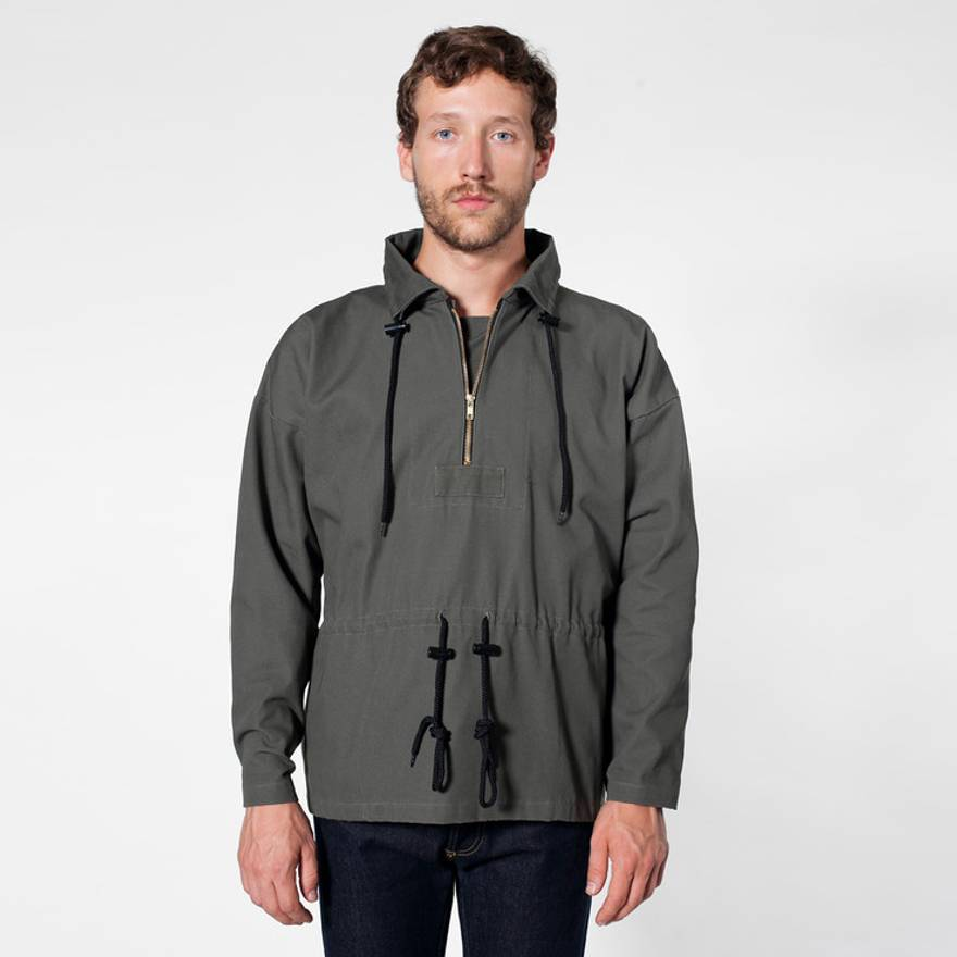 American Apparel Canvas Pullover Jacket Size l - Light Jackets for ...