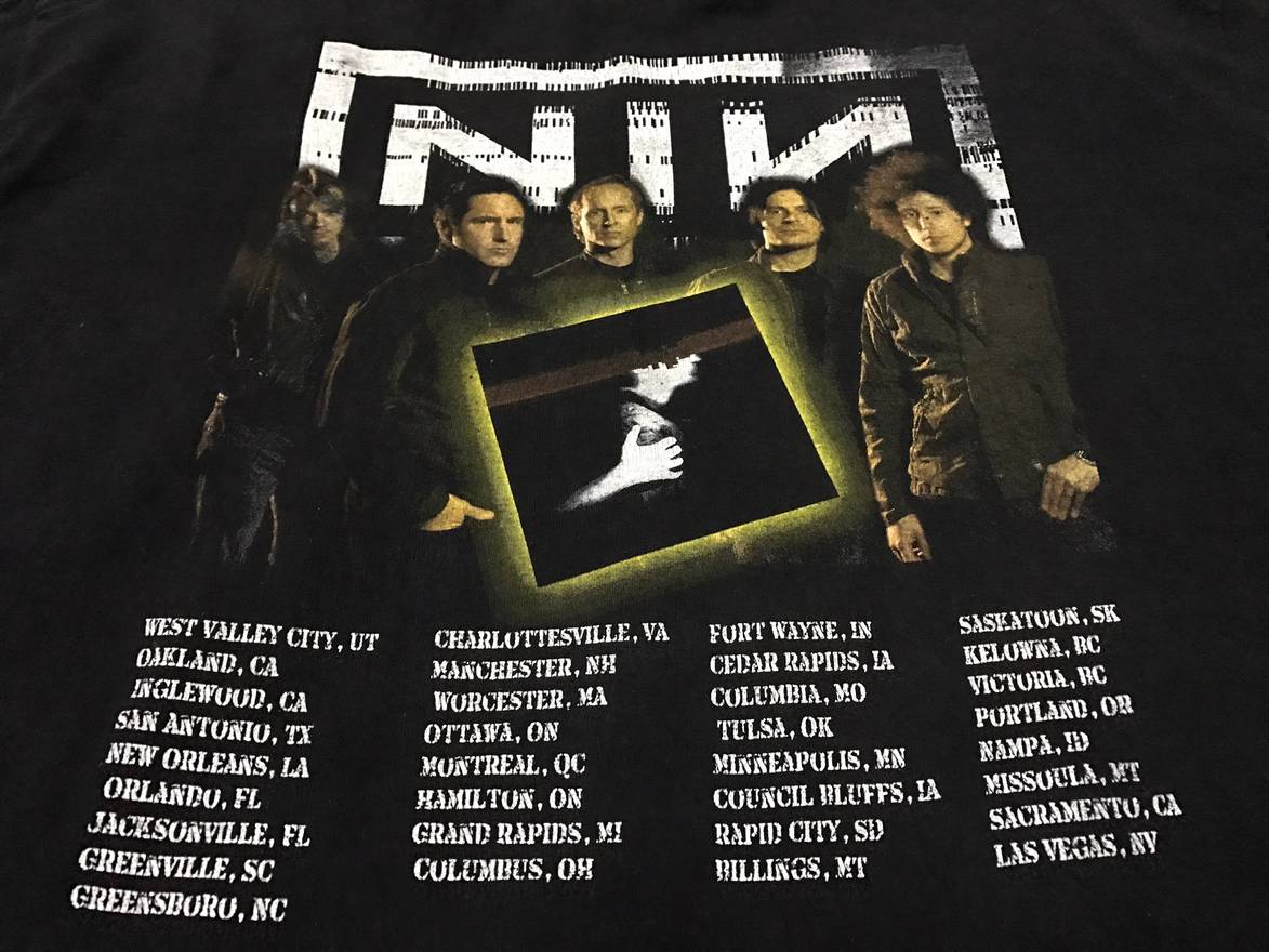 Vintage rare NIN nine inch nails rock band tour promo t-shirts Size ...
