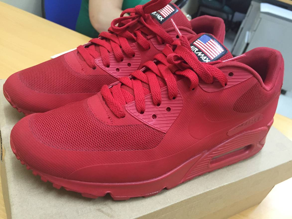 sports shoes 5624e 9be6c ... shop nike nike air max 90 independence day red size us 9.5 eu 42 39d2b  d2a2a