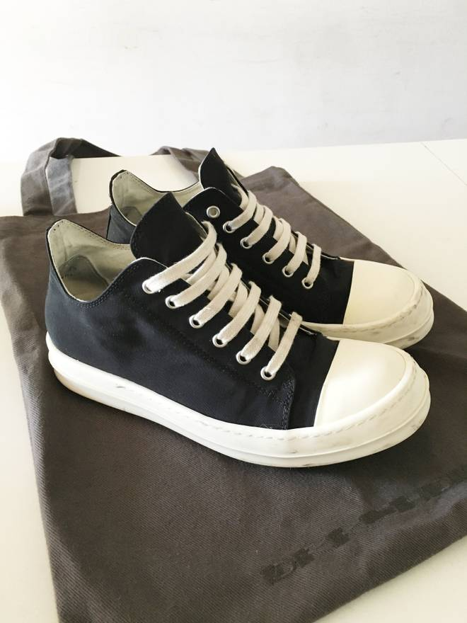 rick owens drkshdw ramones low size 8 low top sneakers for sale