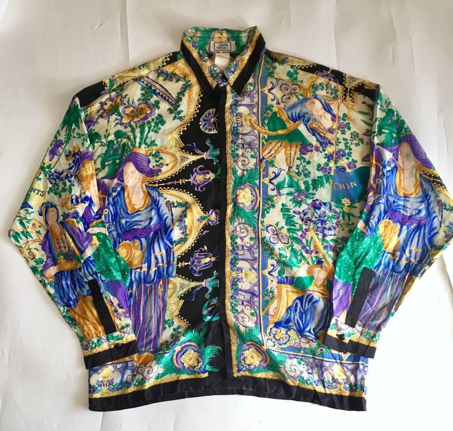 ed590c415944 Vintage Gianni Versace Silk Shirts