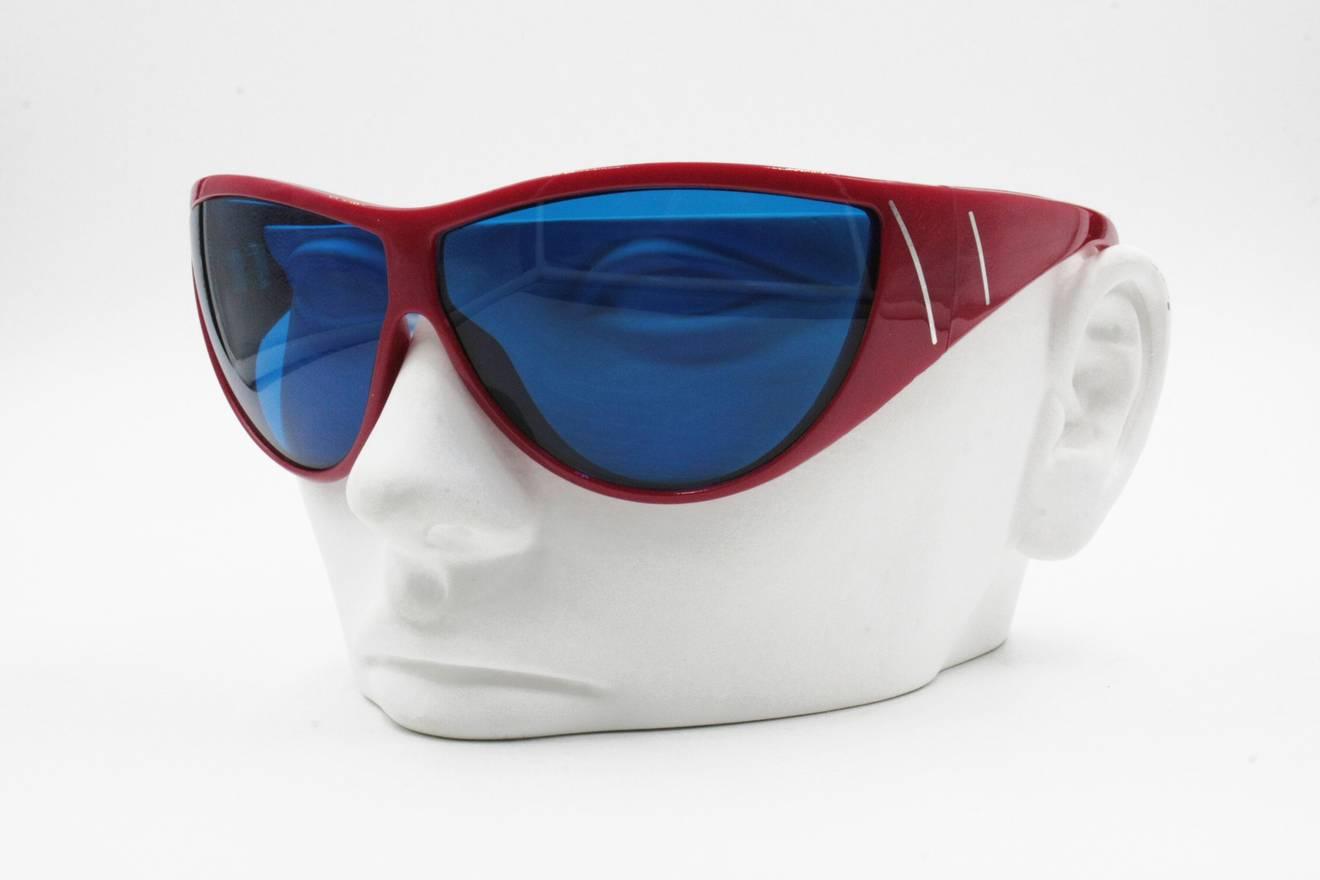 Versace Gianni Versace sunglasses mod. Metrics wrapping mask, red ...