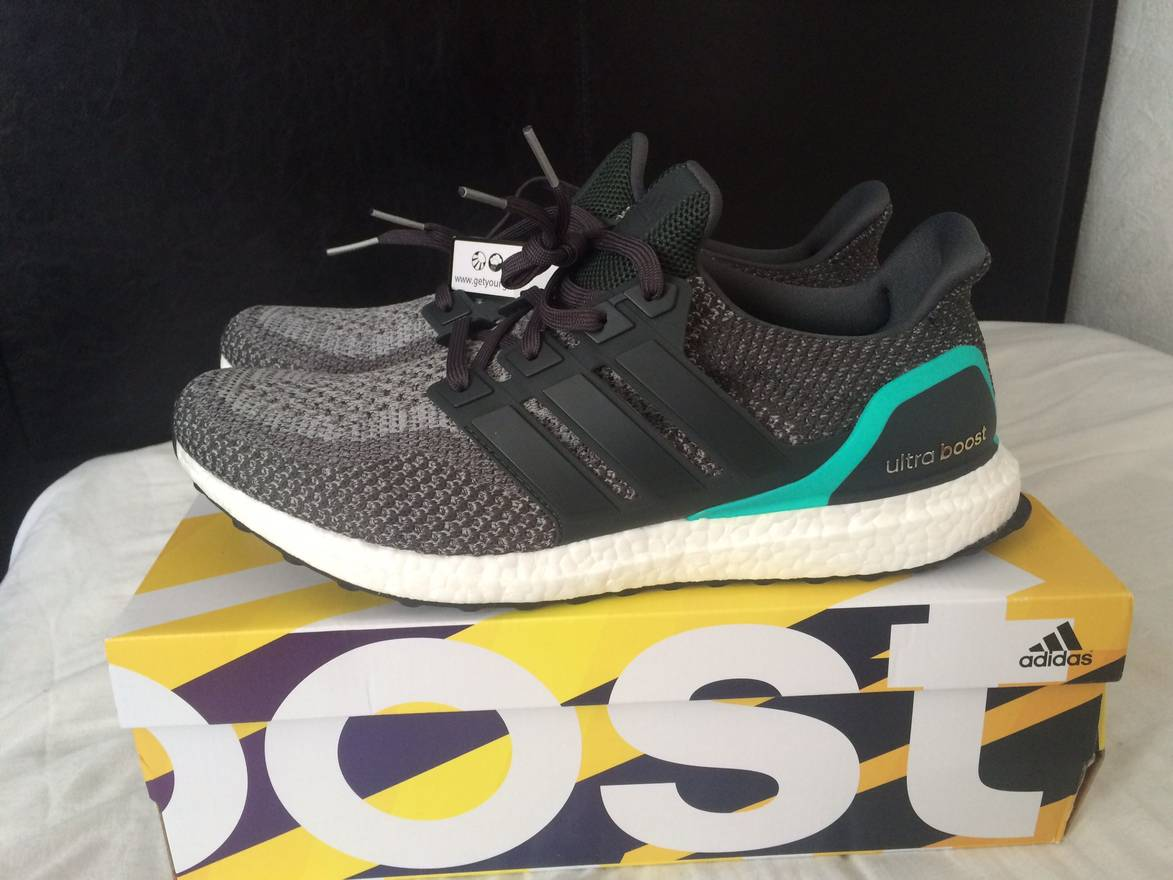 16d98c657d5e7 best adidas ultra boost 2.0 grey shock mint size us 13 eu 46 d353f 96fef