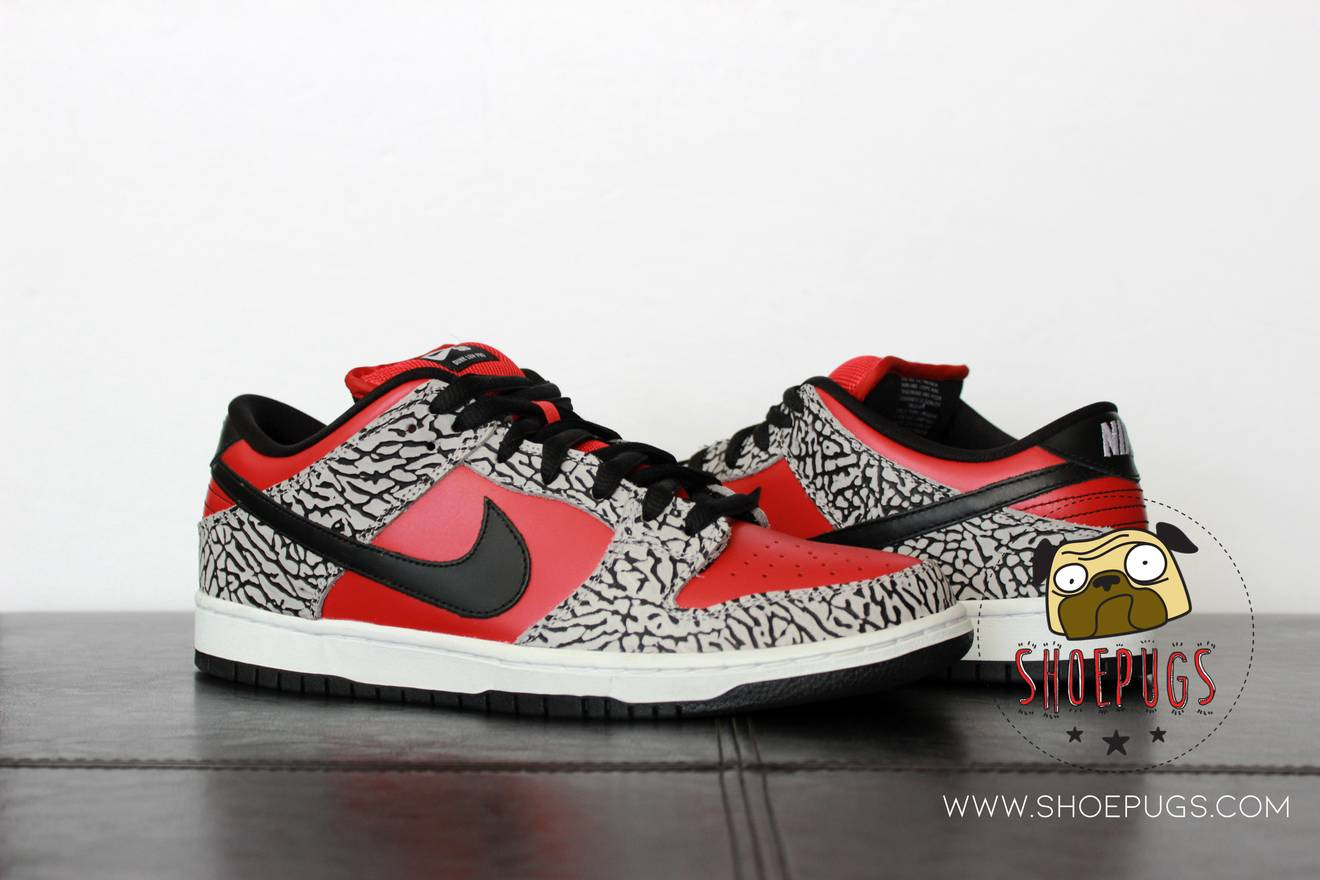 competitive price 65ee3 6fd03 ... sale nike 2012 nike dunk sb low supreme red cement size us 10.5 eu 43  8cf3a