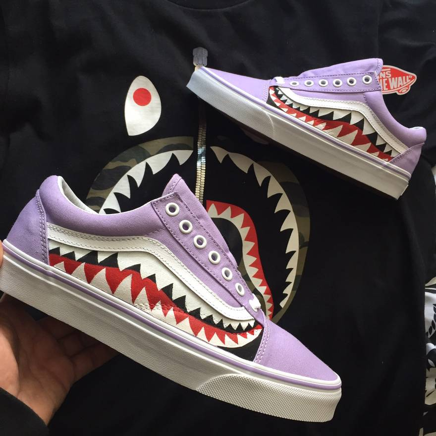 Vans Sharktooth Custom Size US 11 EU 44