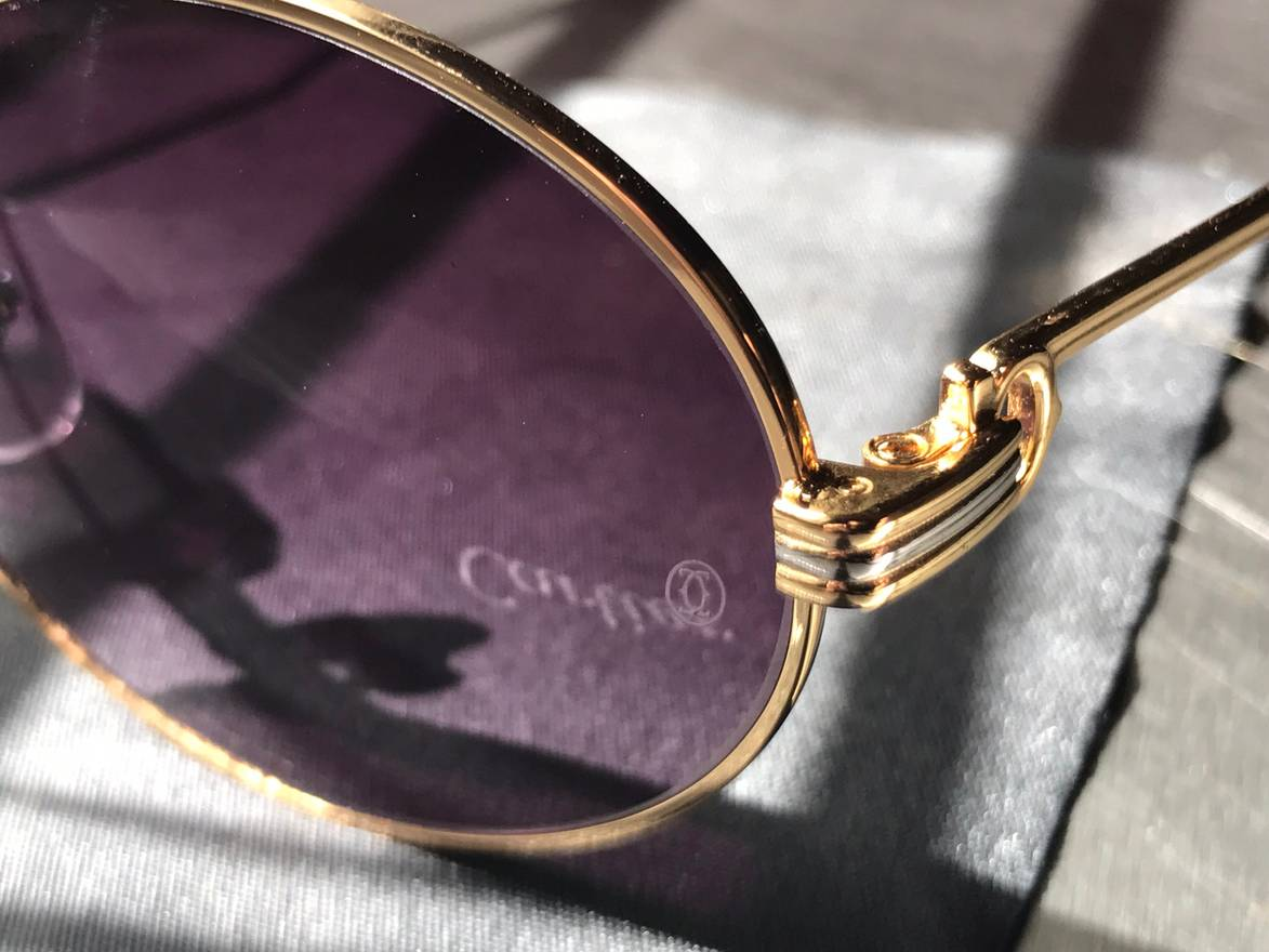 Cartier Gold Cartier Frames With Purple Lenses Size one size ...