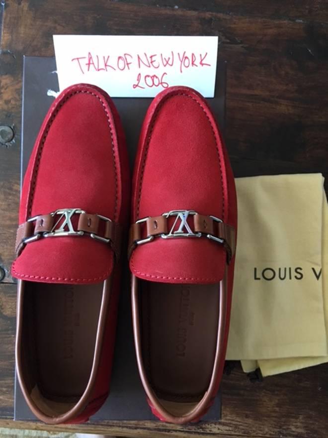 8f8644a8e0d6 ... Louis Vuitton Loafers Hockenheim Red Size LV 7 Size US 8 EU 41 .