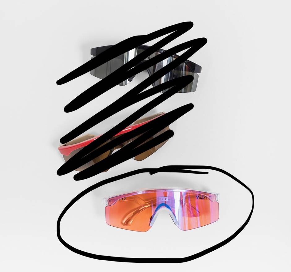862a2a07b25 ... shopping kith nyc kith x oakley razorblade sunglasses size one size  0d6ce be35d