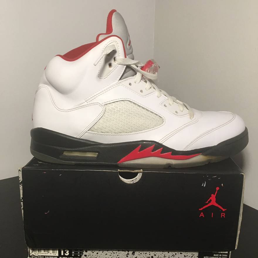 4ff386244cc ... olympic gold size size b3f74 66064; sweden nike air jordan retro 5 fire  red size 13 og box included size us 13