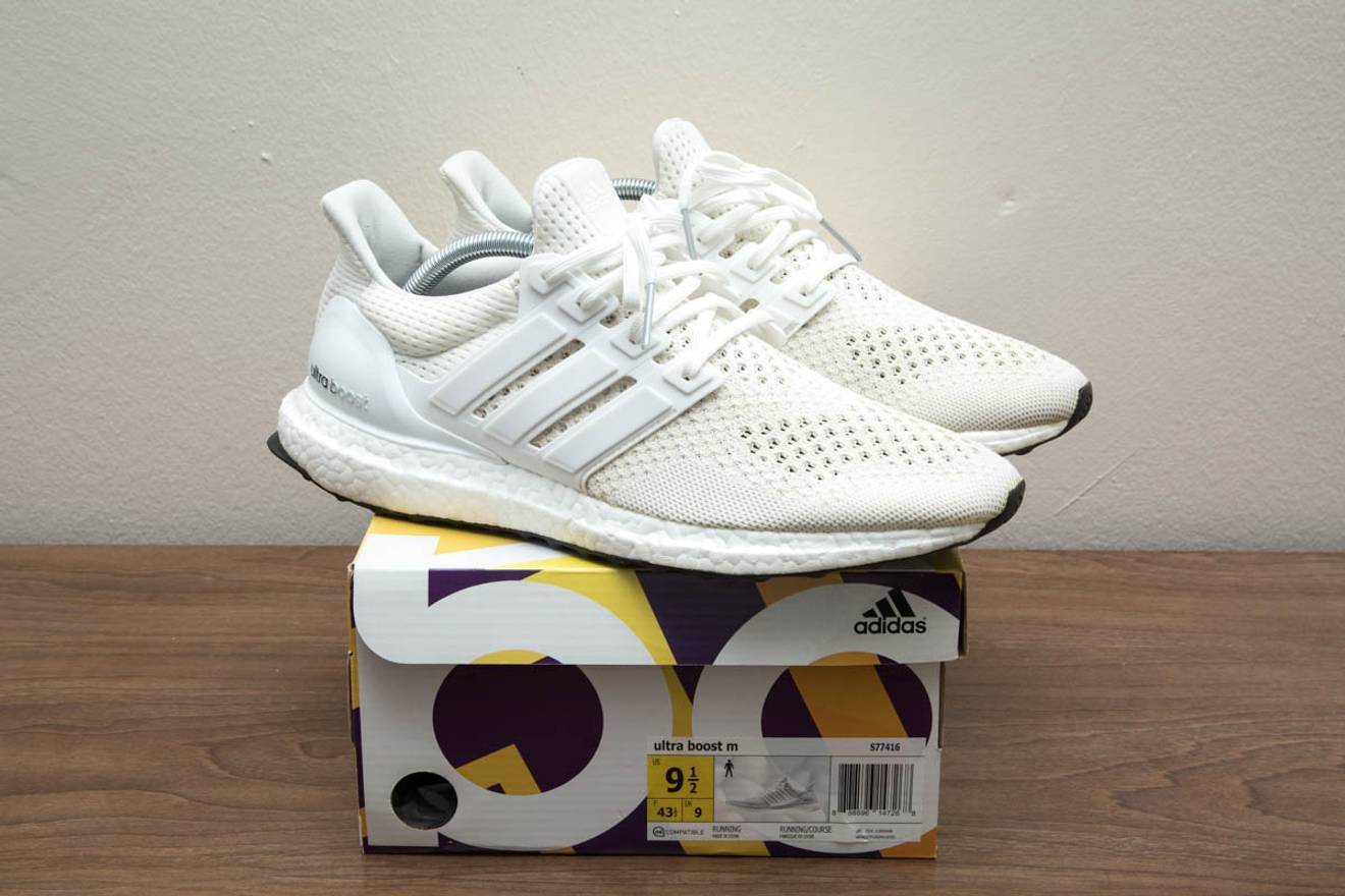 new product fa90c 90b06 ... promo code for adidas adidas ultra boost 1.0 triple white us 9.5 s77416  rare pk mystery