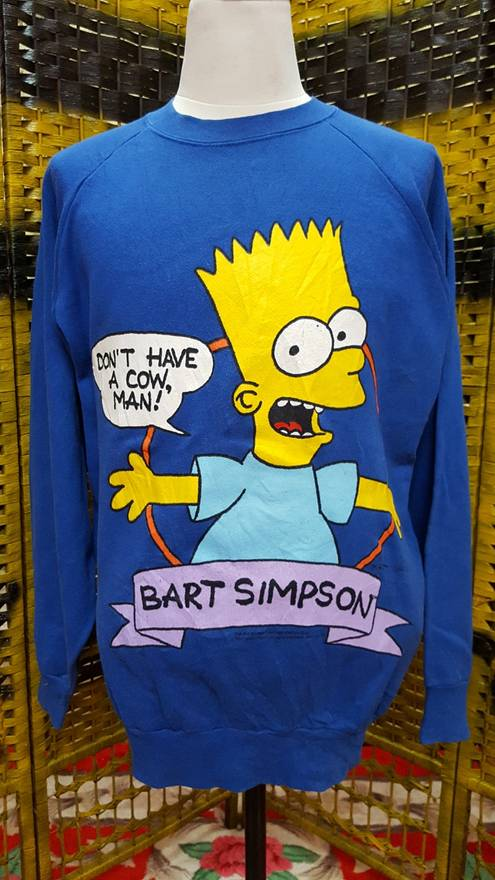 the simpsons vintage 1990 bart simpson bootleg don t have a cow