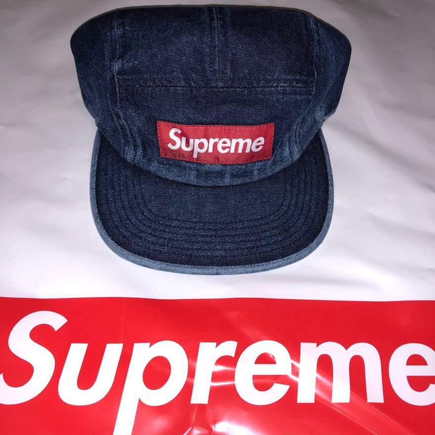 7e5d291d08c ... italy supreme supreme ss18 denim camp cap new in hand spring summer  2018 washed chino twill ...