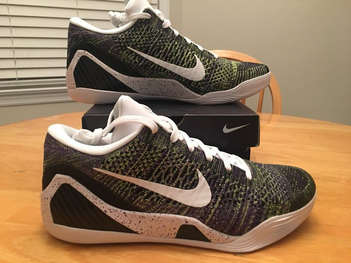 35fac0a6834b ... cheap nike kobe 9 ix elite low id mamba moment flyknit 677992 998 green  purple size