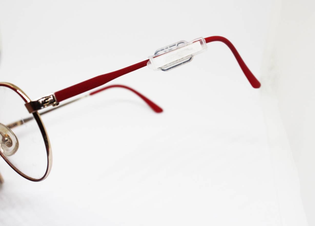 Safilo SAFILO elasta silver and red textured aviator spectacles ...