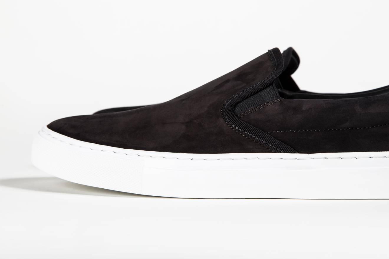 Diemme Black Suede Garda Slip-On Sneakers