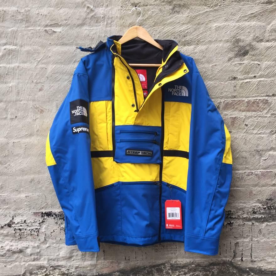 ... top quality supreme supreme north face steep tech jacket blue yellow l  brand new ds tnf e0dfb7b9e