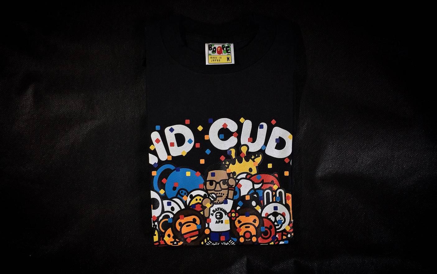 ed984348 Bape X Kid Cudi Milo Party T Shirt 2010 Size M Short Sleeve