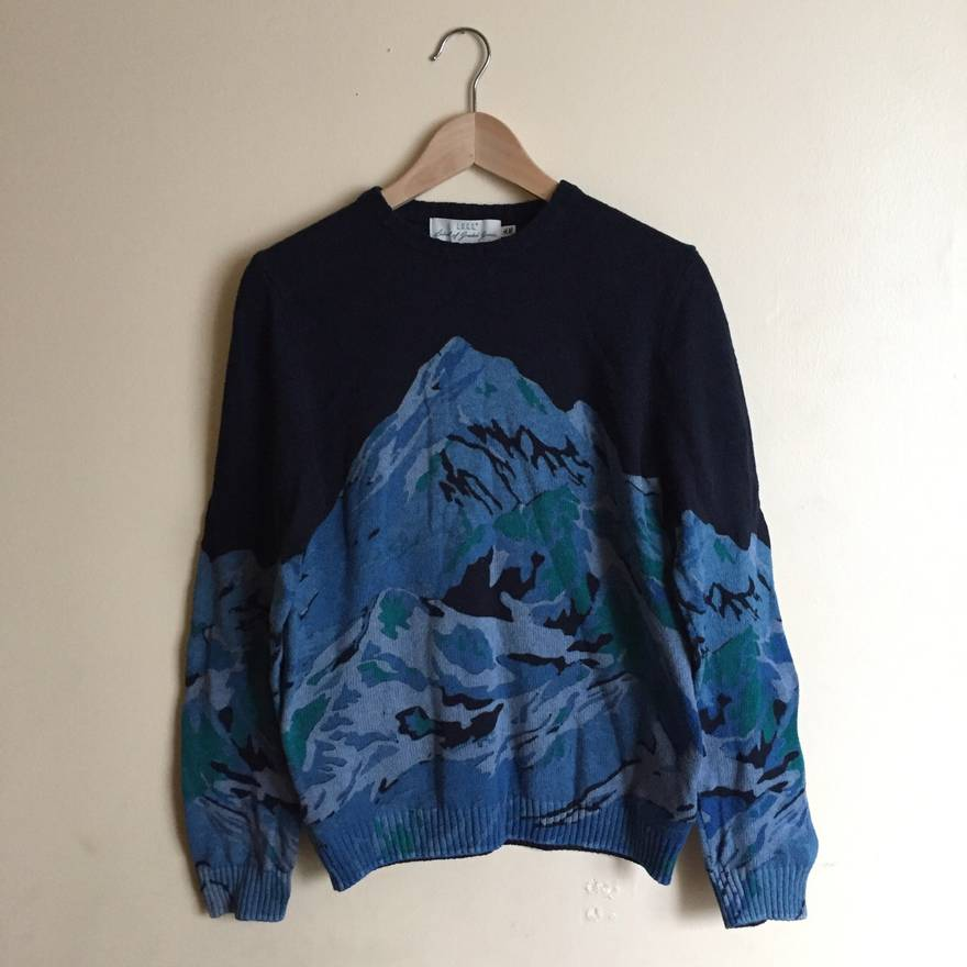 H&M H&M Long-Sleeved Sweater (Mountain Pattern) Size s - Sweaters ...