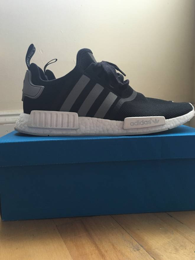 100% authentic 2a9e0 f2c72 ... coupon code for adidas adidas nmd runner black grey size us 11.5 eu 44  45 9285c