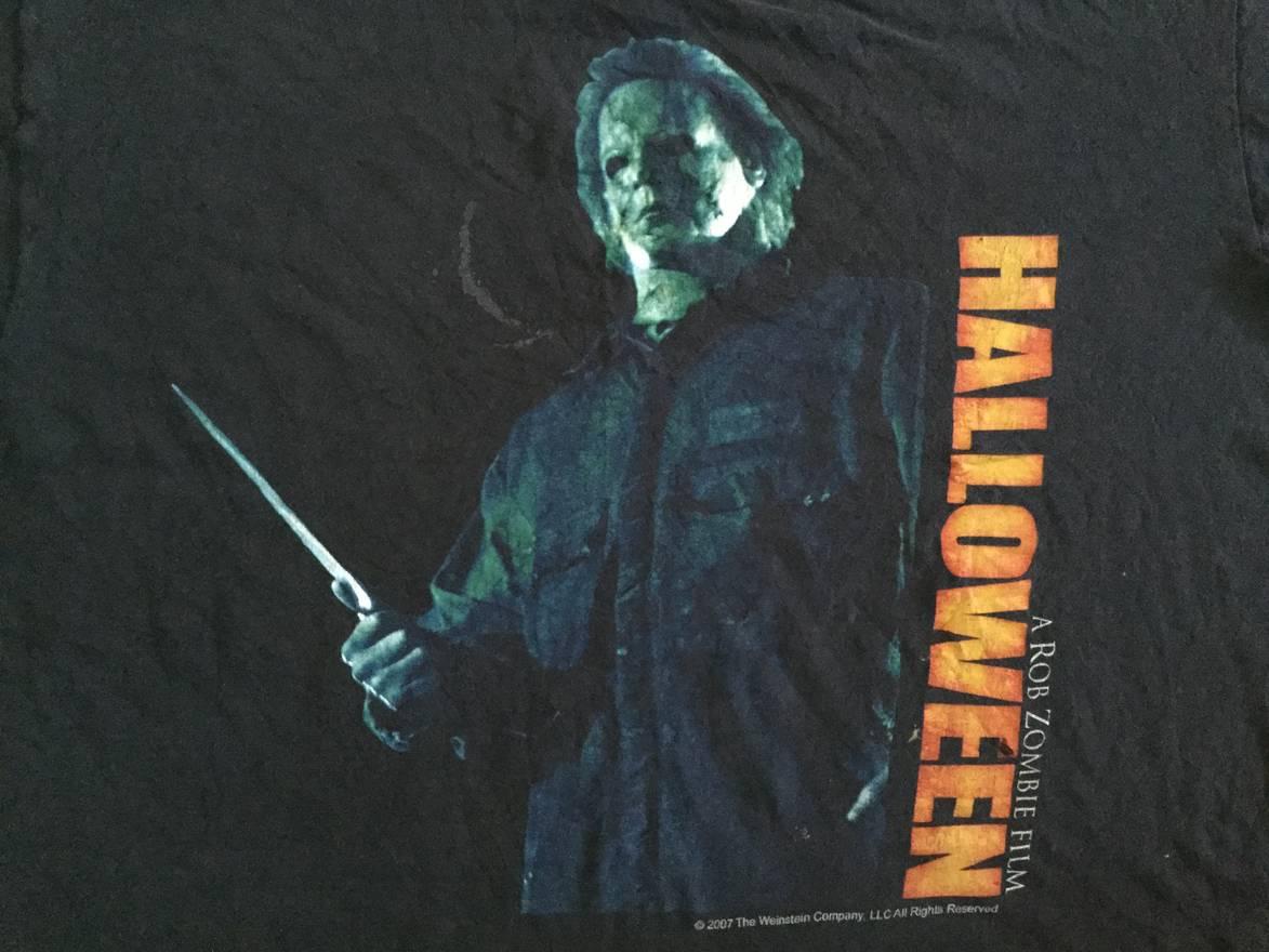 movie halloween a rob zombie film horror movie promo t-shirt size xl