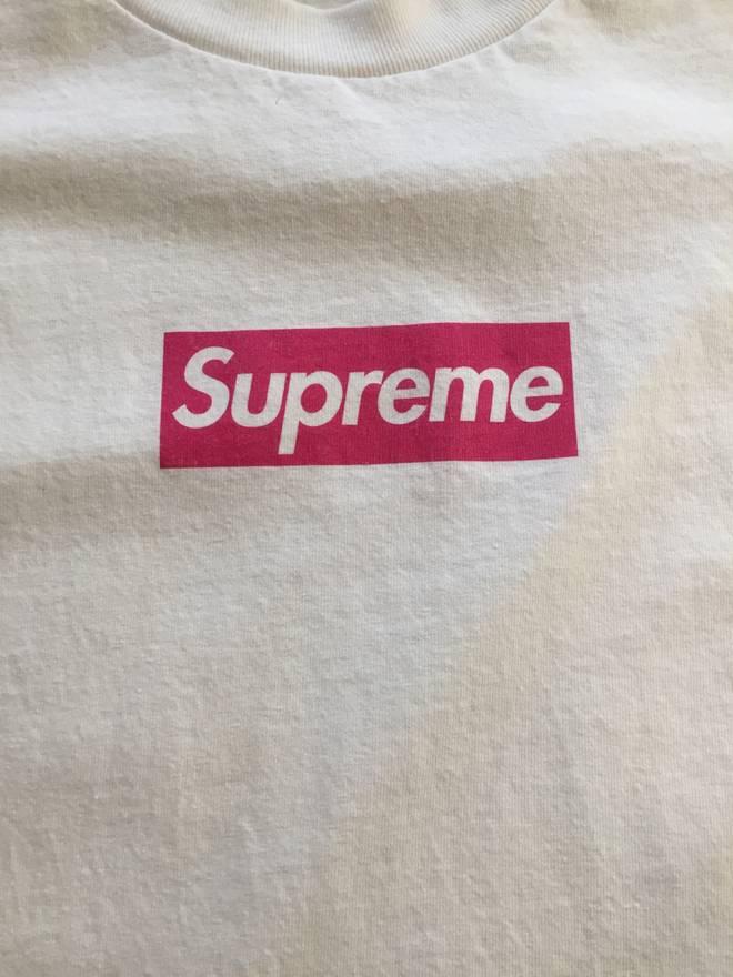 Supreme Supreme Pink Box Logo T-Shirt Size l - Short Sleeve T ...