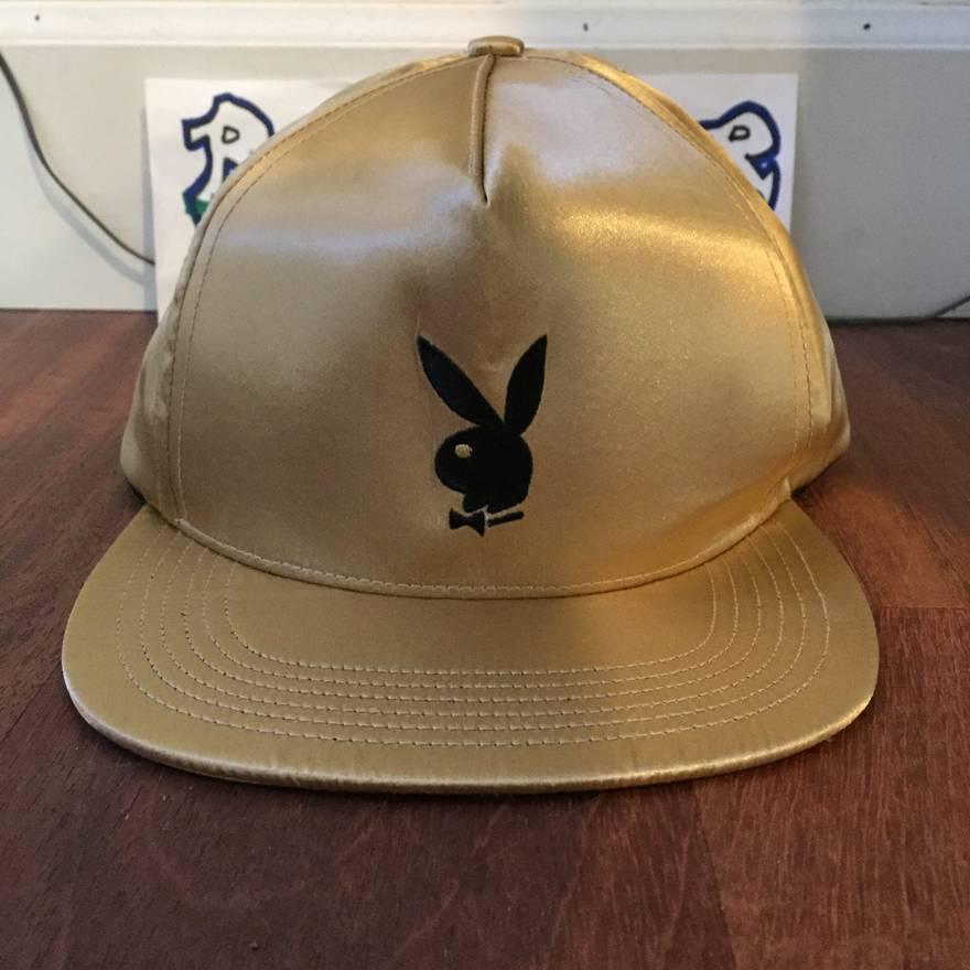 cc9418c4 ... new arrivals supreme gold satin playboy hat size one size e0935 06186
