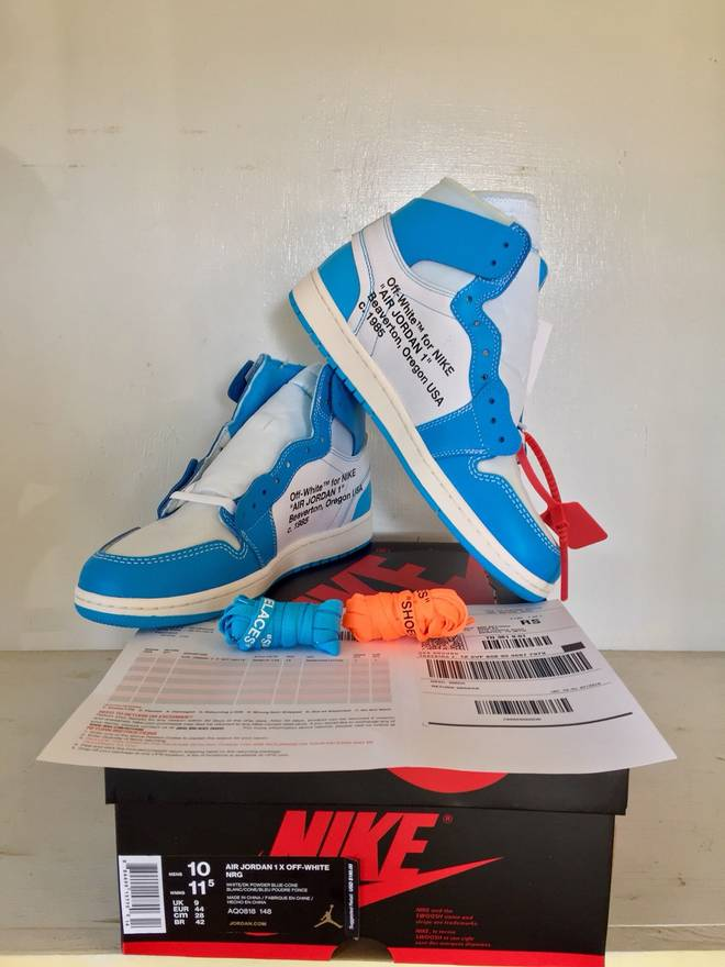 563336d8922 ... sale jordan brand off white air jordan 1 unc size us 10 eu 43 41131  d95a8
