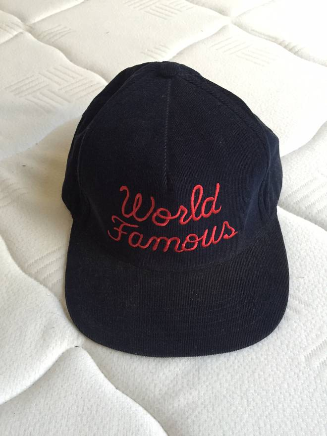 70dbfc5cbaa ... good supreme world famous corduroy snapback size one size fdd32 90843