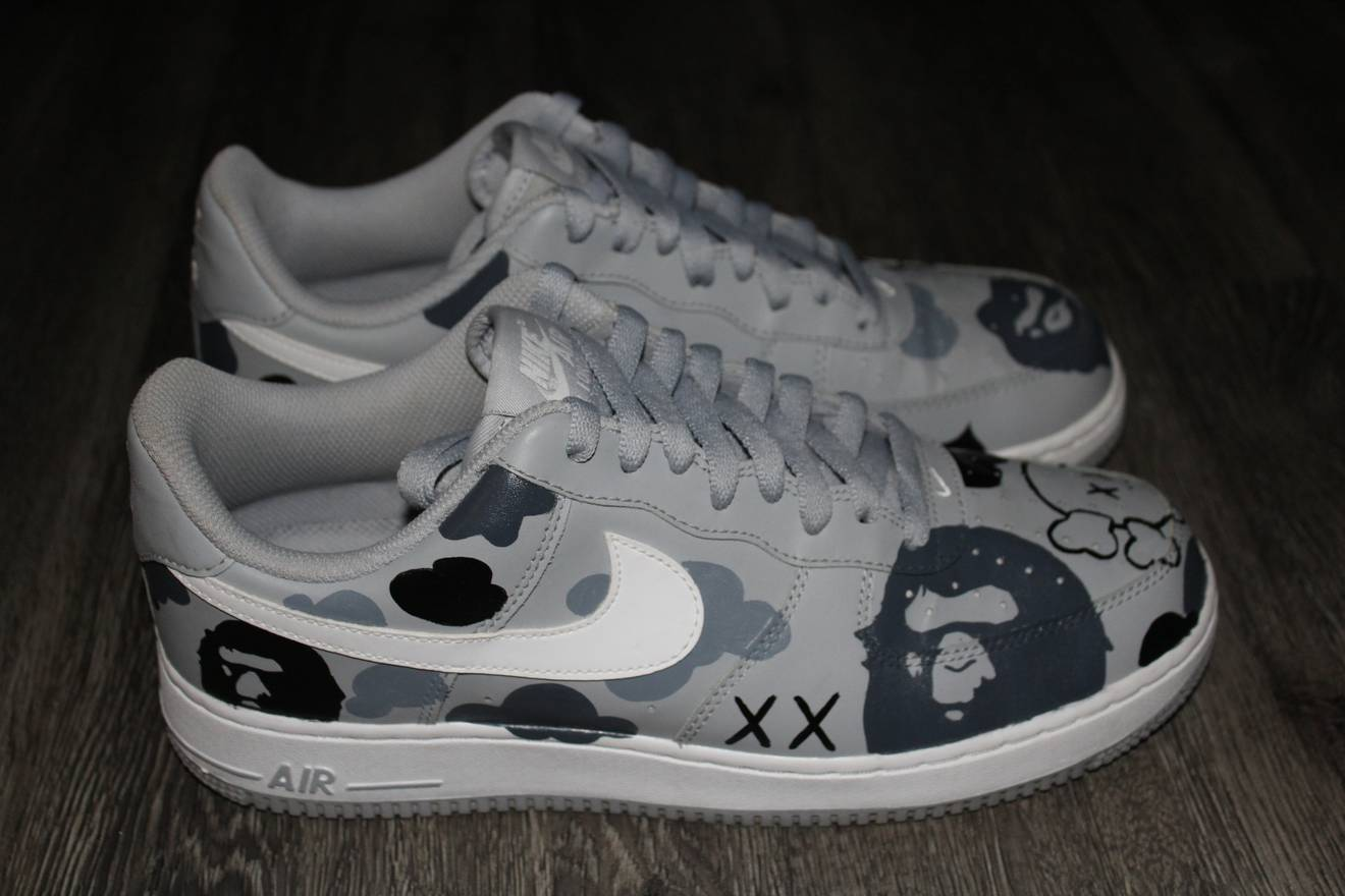 Nike Air Force 1 KAWS X BAPE CAMO Size US 95 EU 42 43