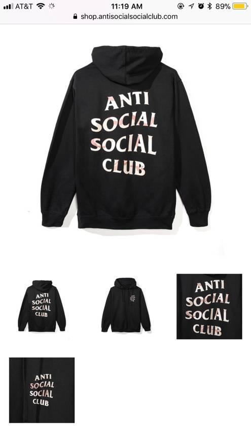 Antisocial Social Club Storm Black Hoodie Size US M EU 48 50 2