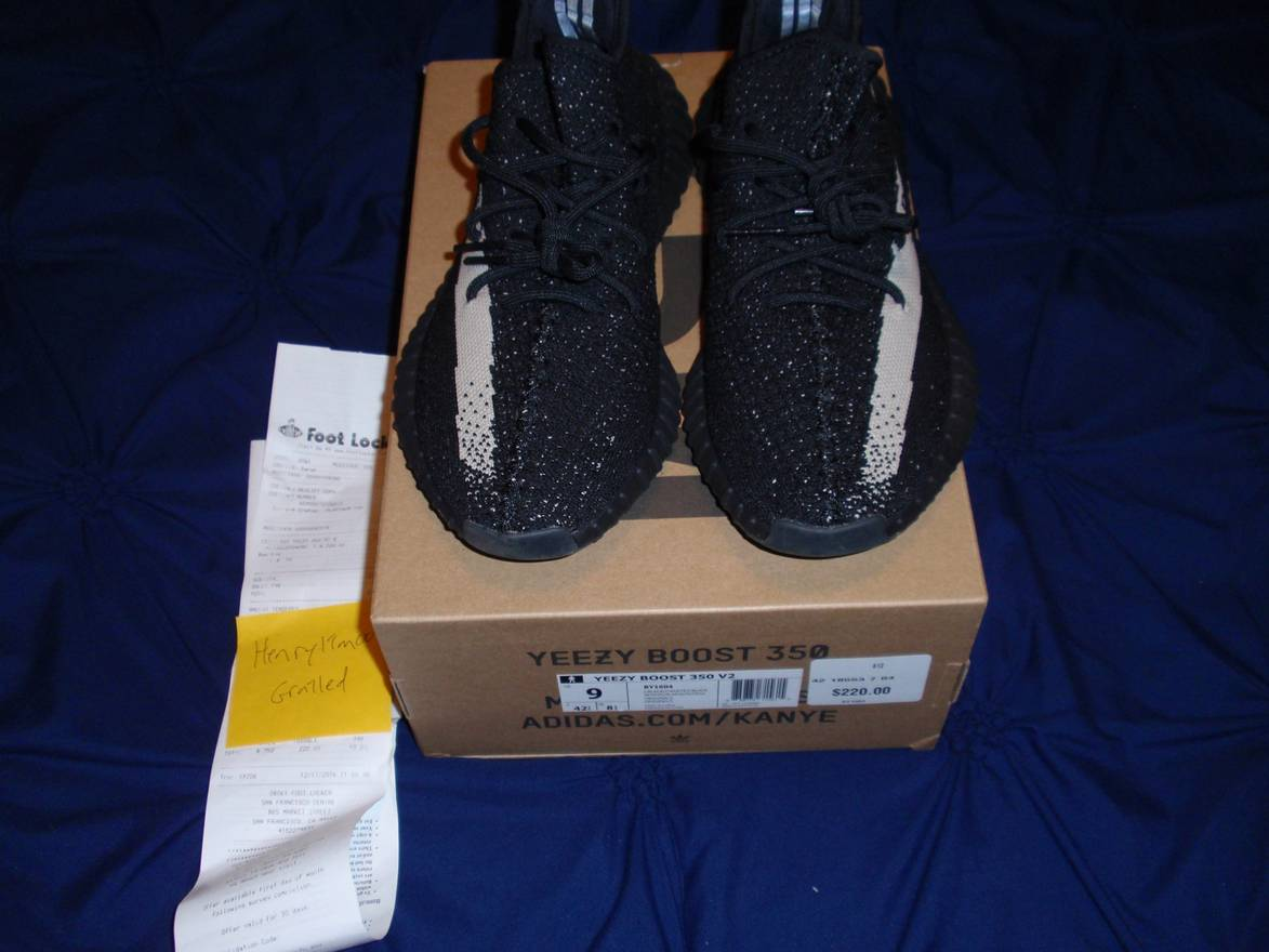 e217e58df ... ebay adidas adidas yeezy boost 350 v2 oreo black white size 9 w receipt  from 4111e