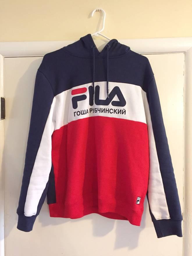 fila overalls. gosha rubchinskiy x fila hoodie size us l / eu 52-54 overalls