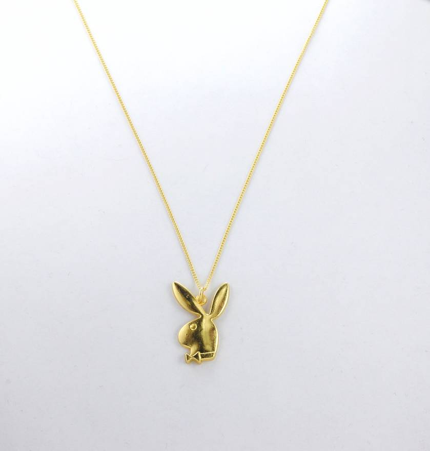 Playboy 14k gold playboy bunny necklace 20 chain free worldwide playboy 14k gold playboy bunny necklace 20 chain free worldwide shipping size one aloadofball Image collections